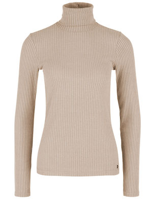 Damen Rollkragen Turtleneck Shirt