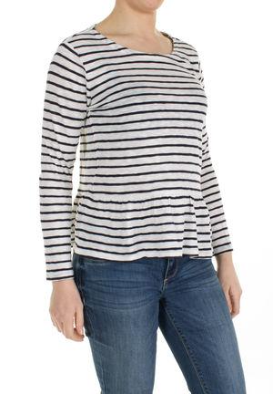 5686c090ba5805 Damen Streifen Shirt mit Volant Saum von S.Oliver bei Stastny-Mode ...