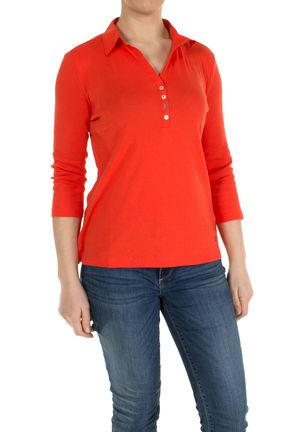 damen polo shirt mit knopfleiste von tom tailor bei stastny mode online shop. Black Bedroom Furniture Sets. Home Design Ideas