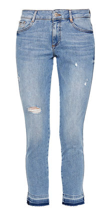 Damen Jeans Hose Shape Ankle: Jeans mit Destroyes (blue)