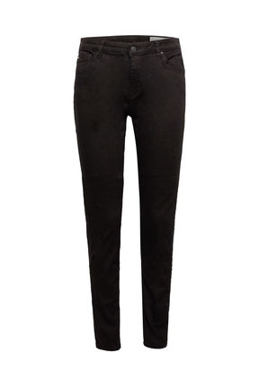Damen Skinny Jeans Medium Rise aus Organic Cotton (black)