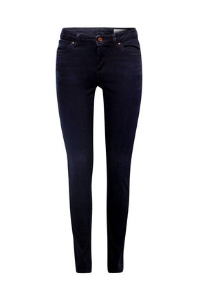 Damen Skinny Jeans Medium Rise mit Organic Cotton (blue)