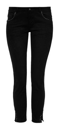 Damen Hose Shape Superskinny mit Nieten (black)