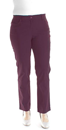 Damen-5-pocket Hose Laura (brombeere)