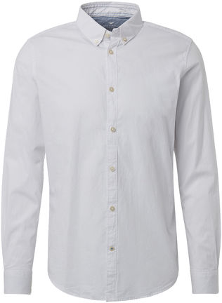 Herren Langarm Hemd Fitted mit Button Down Kragen