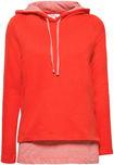 Damen Sweatshirt mit Kapuze im Layering Look 339ee1f8cc