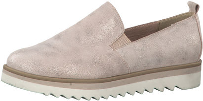 Damen Slipper Mocassin mit Metallic Look
