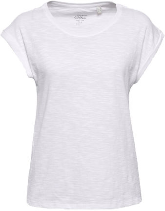 Damen Lässiges Struktur-Shirt mit Organic Cotton