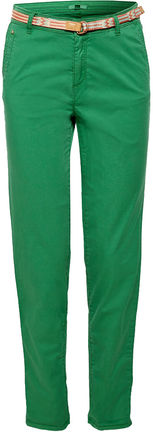 Damen Stretch-Chino mit Web-Gürtel (dark green)
