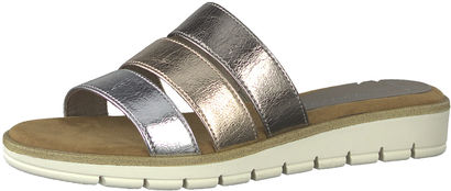 Damen Metallic-Pantolette