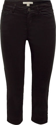 Damen Capri Hose aus softem Baumwoll-Stretch (black)