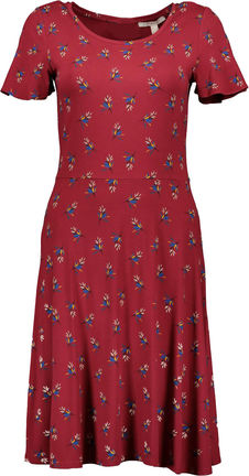 Damen Midi Kleid mit Allover Print