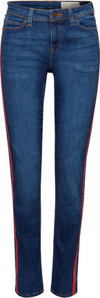 Damen Stretch-Jeans mit Racing-Streifen (blue medium)