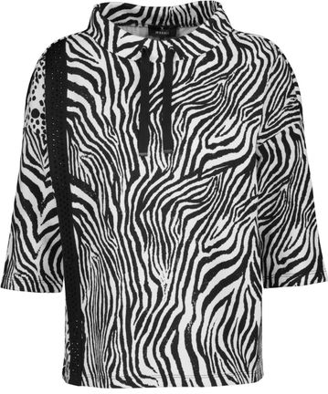 Damen Animal-Print-Shirt mit Strassband