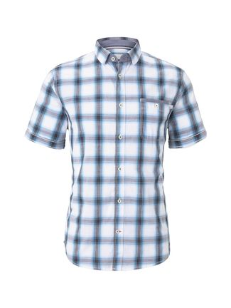 Herren kariertes Kurzarmhemd Regular Fit