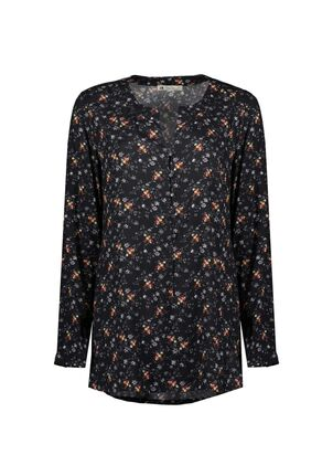 Damen Bluse Flower Print Navy Love