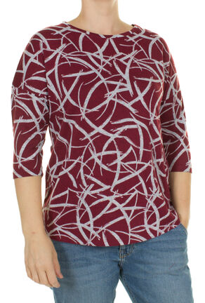 Damen weiches 3/4 Arm Shirt mit Allover Print