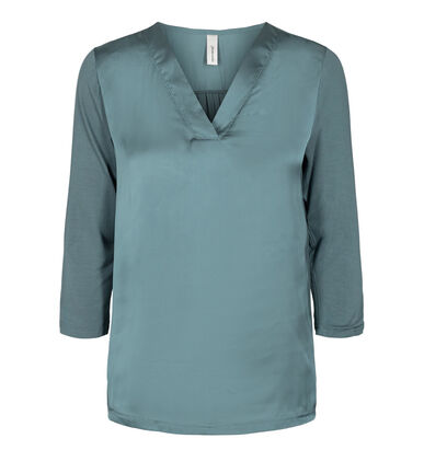 Damen 3/4 Arm Shirt mit Material-Mix SC-THILDE 36
