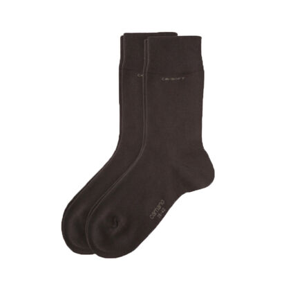 Socken Ohne Gummidruck CA-SOFT 2er Pack (dark brown)